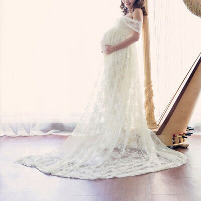 Maternity Women Lace Long Pregnant Boho Maxi Party Dress Gown Photography Props
