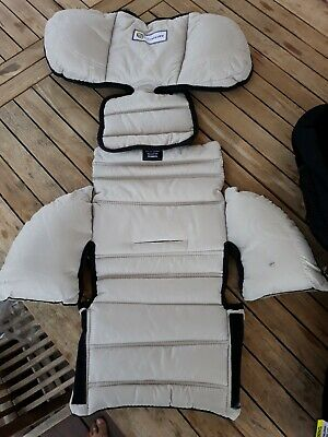 Infasecure Kompressor child car seat cover and newborn insert Cream New