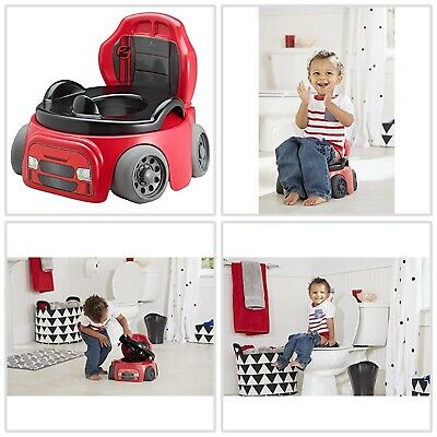 Potty Training Chair Kids Toddler Toilet Seat Car Racer Baby Child Boys Potty