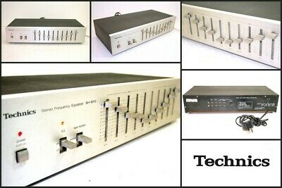 TECHNICS SH-8010 5 Band 2 Channel Stereo Frequency Equalizer Good Working Order