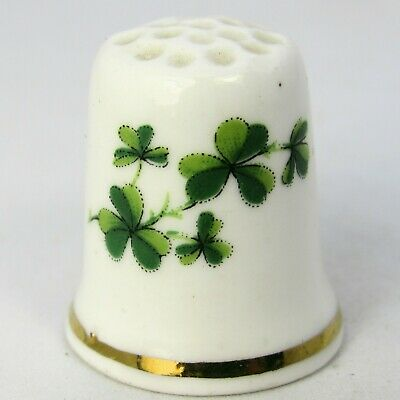Collectable China Thimble Clover Double Sided