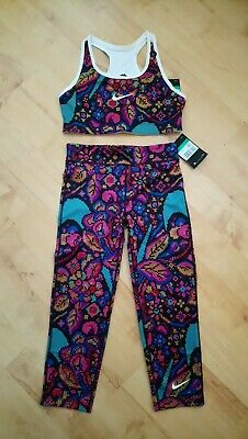 Girls Nike Dry Fit capri length leggings And Crop Top Size XL Age 13-15 Yrs