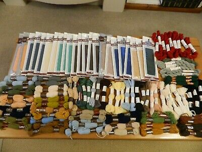 LARGE MIXED LOT TAPESTRY WOOL - 108 x SPIRALES/SKEINS - MIXED BRANDS -  lot 130