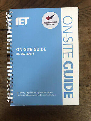 IET On-site guide Wiring Regulations 18th Edition