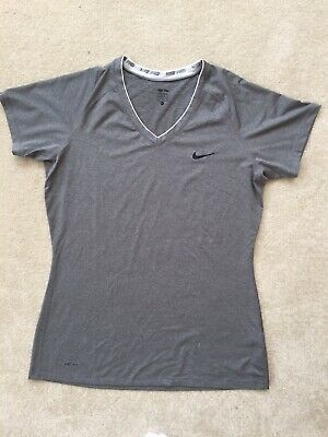 Nike Pro Dri-Fit Performance XL 18 20 22 Grey Sport Short Sleeve T-shirt J14