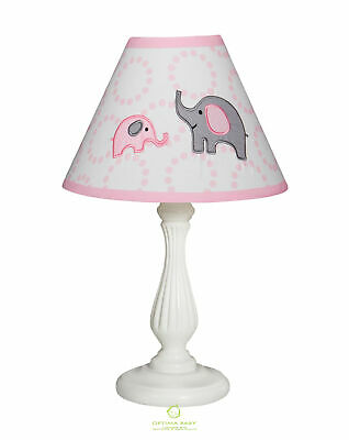 Pink Grey Elephant Lamp Shade Only Without Base By OptimaBaby