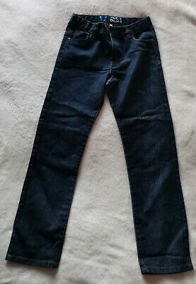 Boys Dark Blue Jeans Age 12 years Adjustable Waist Slim Fit Excellent Condition