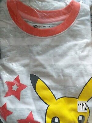 Pokemon Pikachu Pyjamas Unisex 11-12 Years Bnwt Nightwear Boys Girls