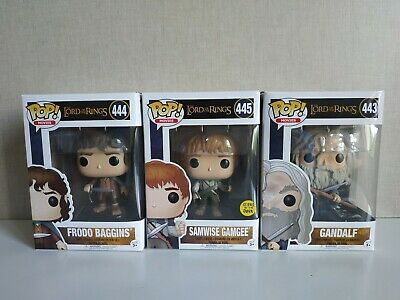 Funko pop Lord of the Rings Samwise Gandalf Frodo Pack 3 Figuras VER FOTOS