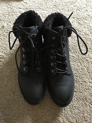 New look 915 black boots size 4 worn once to the car and then inside