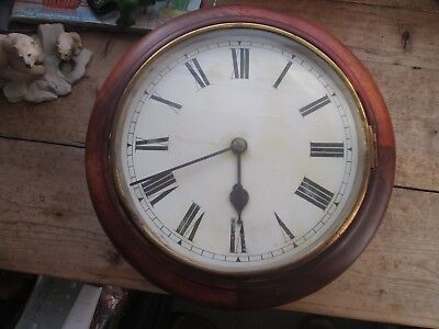 Old Railway Station Clock Please  Look - Lovely Piece