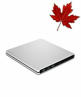 VersionTECH. External DVD Drive, USB 3.0 Ultra Slim Portable DVD Rewriter Bur...