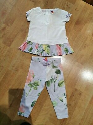 Ted Baker Girls Outfit Age 12-18 Months Top And Leggings Used