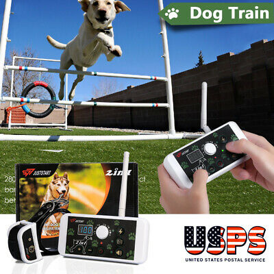 2 in 1 Wireless Electric Dog Fence NoWire Pet Containment System Rechargeable US