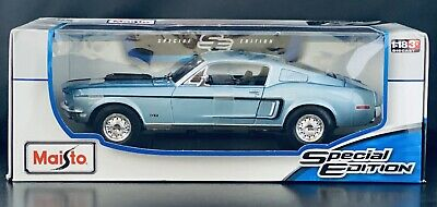 "Maisto 1968 Ford Mustang GT Cobra Jet ""Blue"" Diecast Special Edition NEW IN BOX"