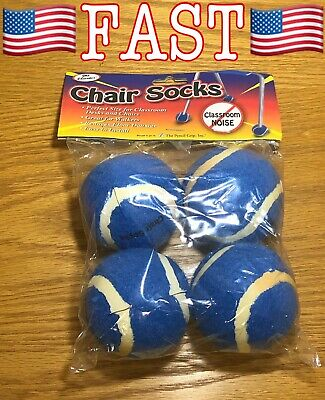 The Pencil Grip Inc Chair Socks Floor Protectors, Blue, Pack of 4