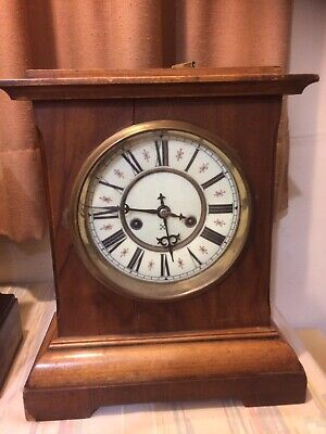 Antique mantle clock made by H.A.C. 14 day Strike early 1900's Hamburg Germany