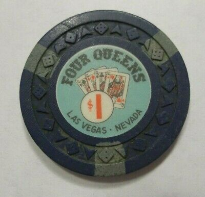 Four Queens Hotel- Downtown Las Vegas Nv - $1 Casino Poker Chip