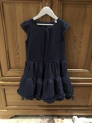 Beautiful Girls Joules Party Dress Navy With Gold Stars Age 8