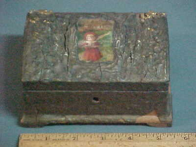 Vintage 1890's Children's Bank Box from London , England