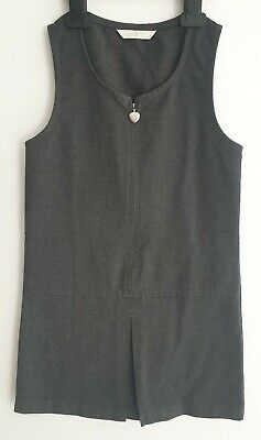 Marks & Spencer M&S Girls Grey Pinafore, Winter, School, Age 6 Years