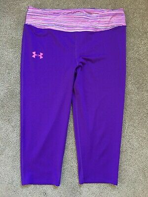 Under Armour Size Youth Extra-Large Fitted All Seasons Gear Capri Pants EUC