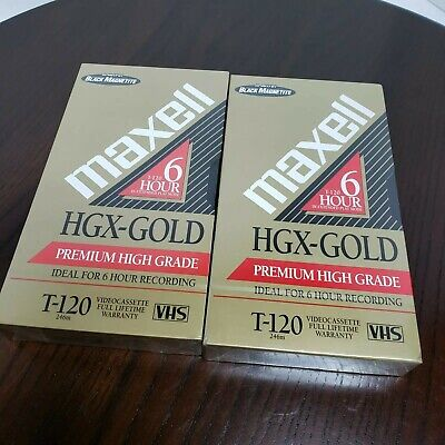 Gx-silver /& Hgx-gold Recordable VHS Tape