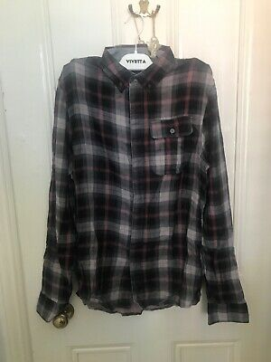 Men's Calvin Klein Jeans CK One Casual Shirt Check Plaid,size M,good Condition