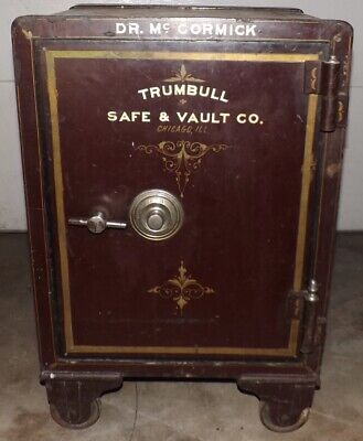 Antique Safe Trumbull Safe & Vault Co. 1900s w/ Working Combo Buyer Must Pickup
