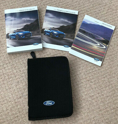 Ford Focus Owners Manuals & Wallet **Inc Blank Service Book** Dated 2018