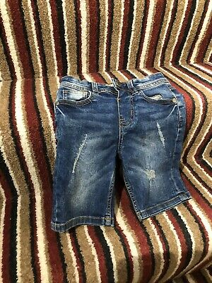 Boys Denim Shorts Age 3/4 Years Old
