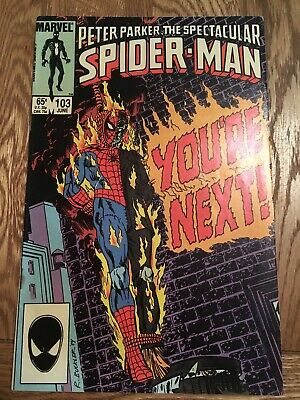 Marvel Comic Peter Parker The Spectacular Spider-man 103 1985