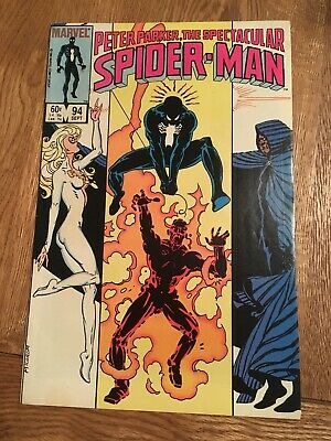 Marvel Comic Peter Parker The Spectacular Spider-man 94 1984 Black Costume