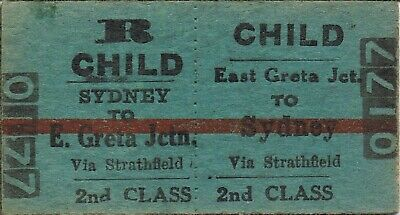 Railway tickets a trip from East Greta Junction by the old NSWGR and the SMR