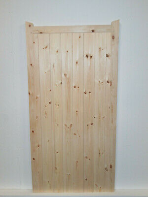 Garden Gate wooden Pedestrian Side Gate Made to Measure Sevice With Horns