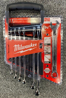 Milwaukee 48-22-9507 7-Piece Metric Open-End Combination Wrench Set