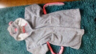 Girls marks and spencers dressing gown 6/7 years fluffy animal