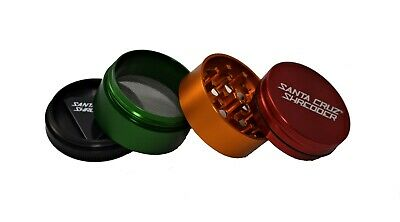 "Medium 2.2"" Rasta 4 Piece SANTA CRUZ SHREDDER Grinder Glossy Finish"