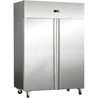 Commercial Freezer Upright cabinet Stainless steel 1476 litres Twin door