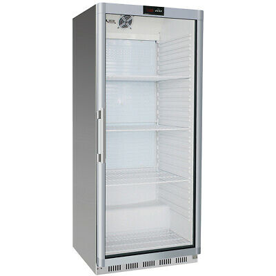 Commercial Freezer Upright cabinet Stainless steel 620 litres Single glass door