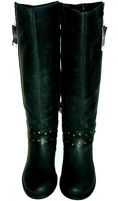 NEXT black faux leather pull-on half zip riding boots UK 5 EUR 38 tagged £85