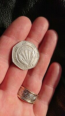 Very rare and special 50p fifty pence NHS 50th Anniversary 1998 edition coin.
