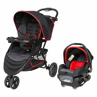 Baby Trend  Stroller Travel System with Car Seat Infant Kid Combo Set  Red Black