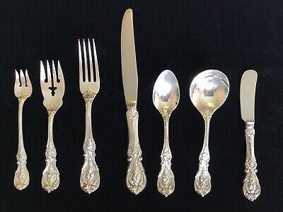 Vintage Reed & Barton Francis I 7 Piece Sterling Silver Place Setting