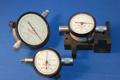 3 Starrett Dial Indicators -  (2) #81-141 & 25-131