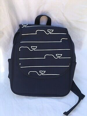 Vineyard Vines Whale Line Baby Diaper Bag Backpack & Changing Pad Cooler Blue