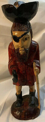 Vintage One Of A Kind Captain Morgan Rum, Pirate Wood, Hand Carved, Hand Painted