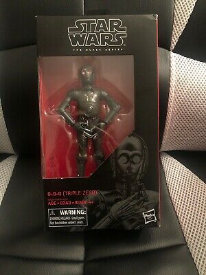 0-0-0 (Triple Zero) Star Wars The Black Series Figure Rare Extremely Hard 2 Find