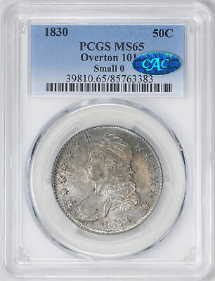 1830 Capped Bust 50C Pcgs Ms 65