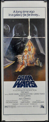 Star Wars R1980'S Genuine 14X36 Rolled Movie Poster Mark Hamill Harrison Ford